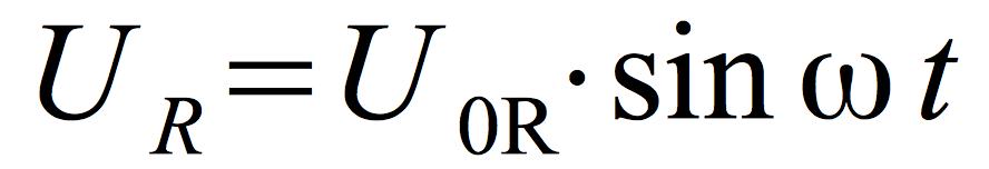 napięcie-prądu-przemiennego-obwód-R