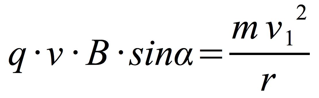 siła-Lorentza-równa-sile-dośrodkowej