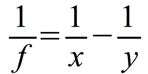 równanie-obrazu-pozornego