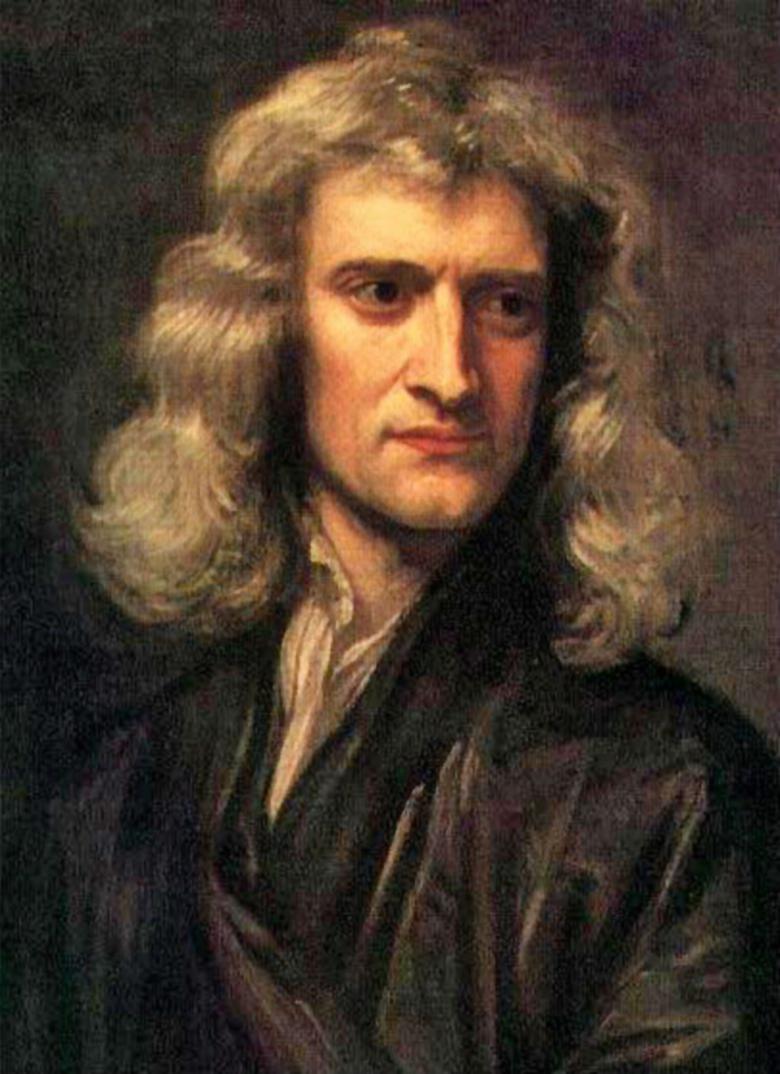 Isaac Newton opracowanie rachunku różniczkowego prawa dynamiki teoria powszechnego ciążenia