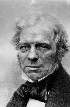 Michael Faraday indukcja elektromagnetyczna samoindukcja klatka Faradaya efekt Faradaya prawa elektrolizy