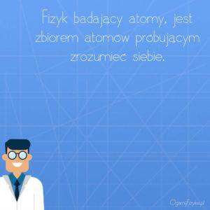 fizyk badający atomy