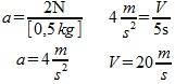 zadanie 2.3 na kotka o masie 0.5kg działa siła o wartości 2N przez 5s. Jaki uzyska przyrost prędkości obliczenia