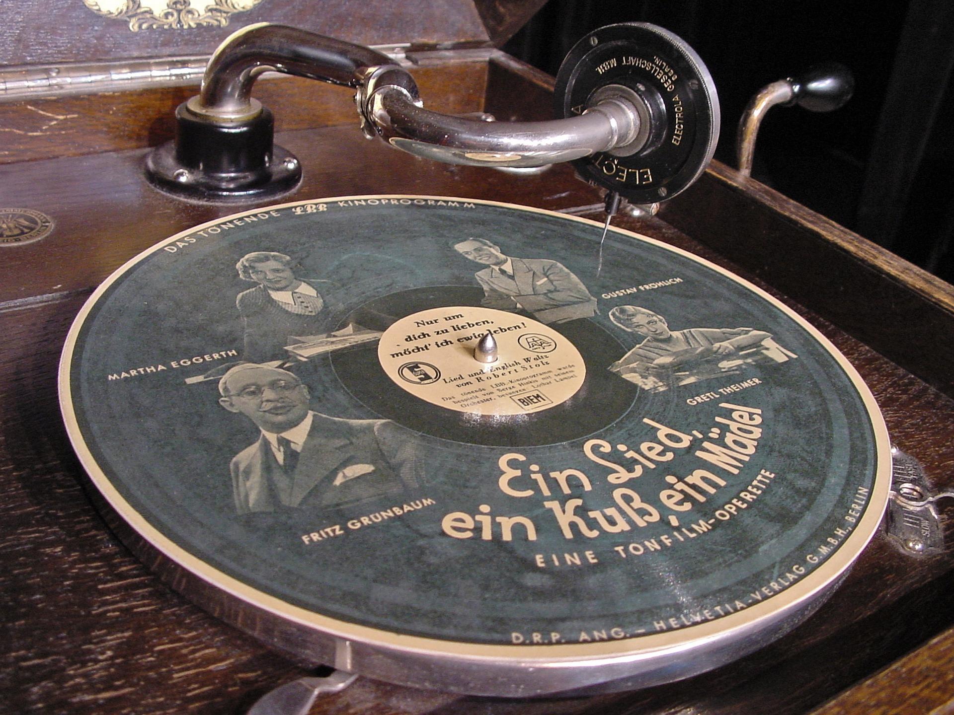 fonograf, gramofon, płyta gramofonowa, dźwięk