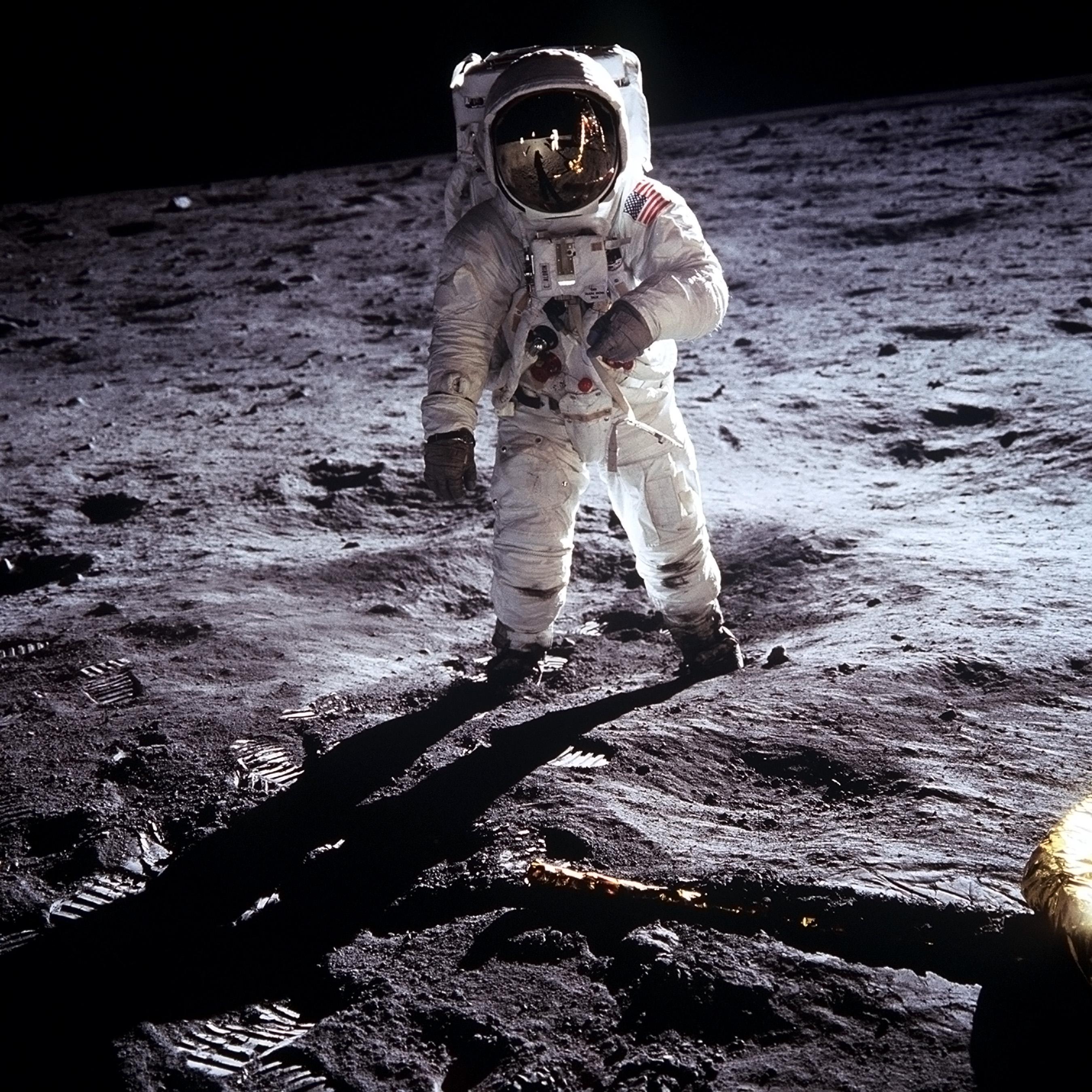 lądowanie, księżyc, astronauta, astronomia, kosmos, astronautyka