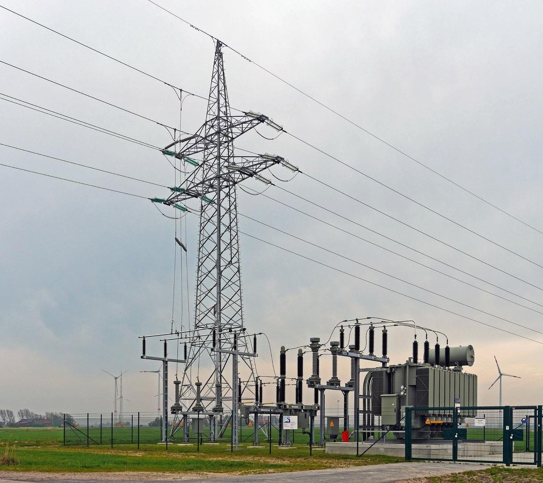transformator, energetyka, linia energetyczna, elektryczność