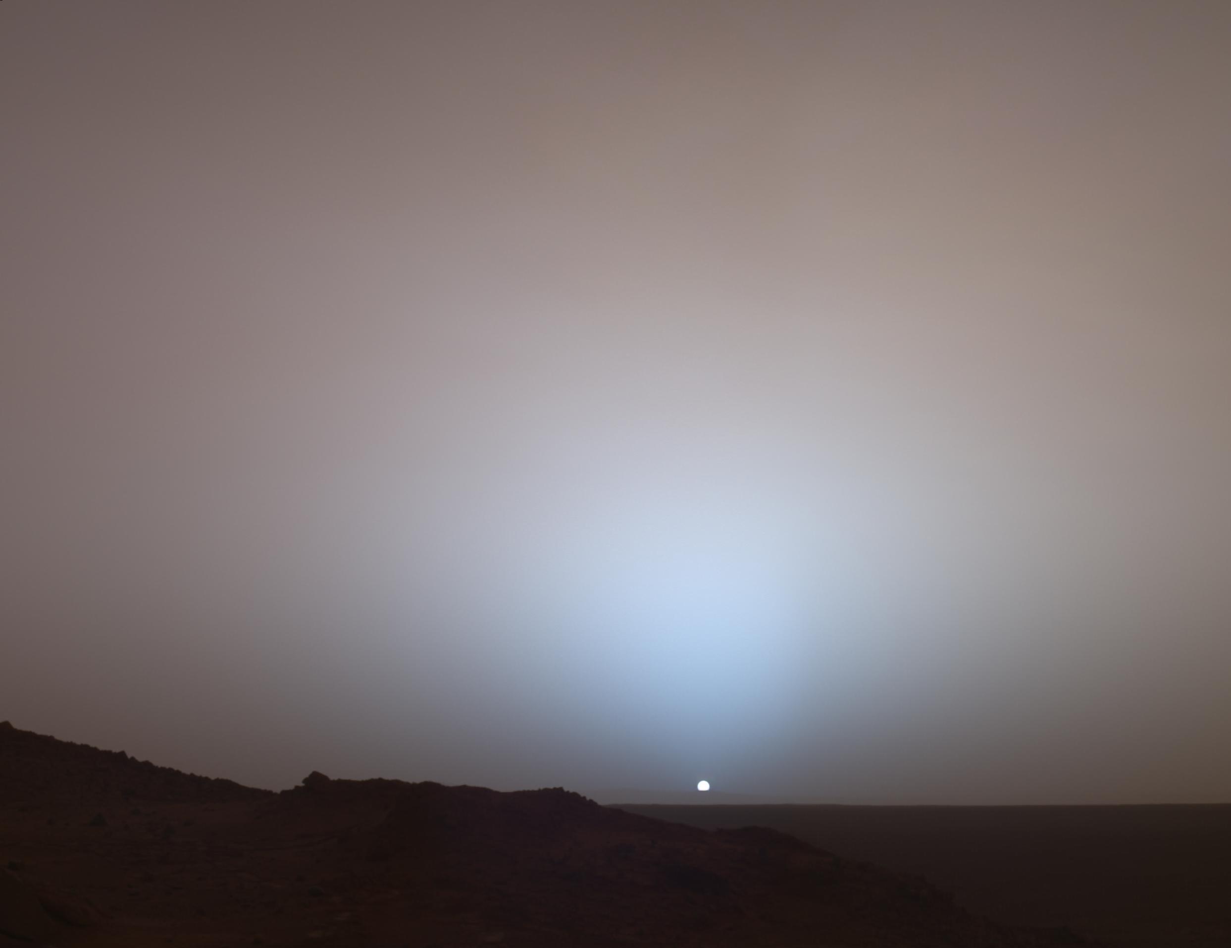 Mars zdjęcie zachodu słońca