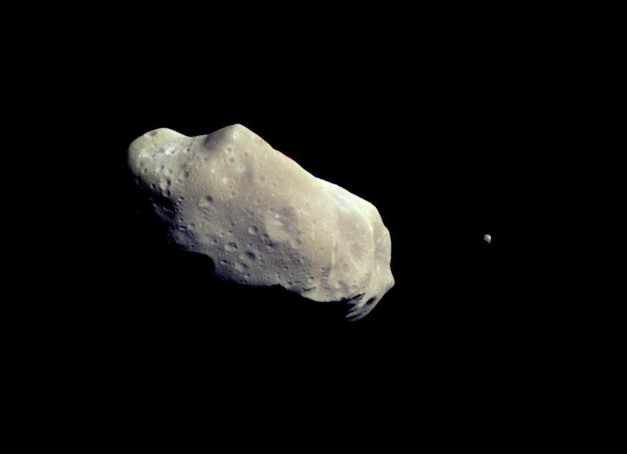 planetoida Ida wraz ze swoim księżycem