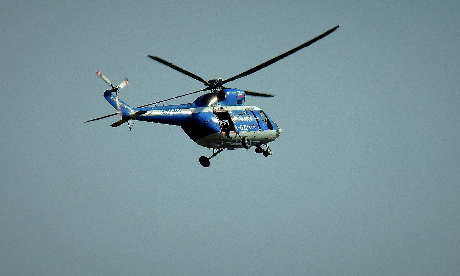 dynamika bryły sztywnej, bryła sztywna, helikopter, śmigłowiec