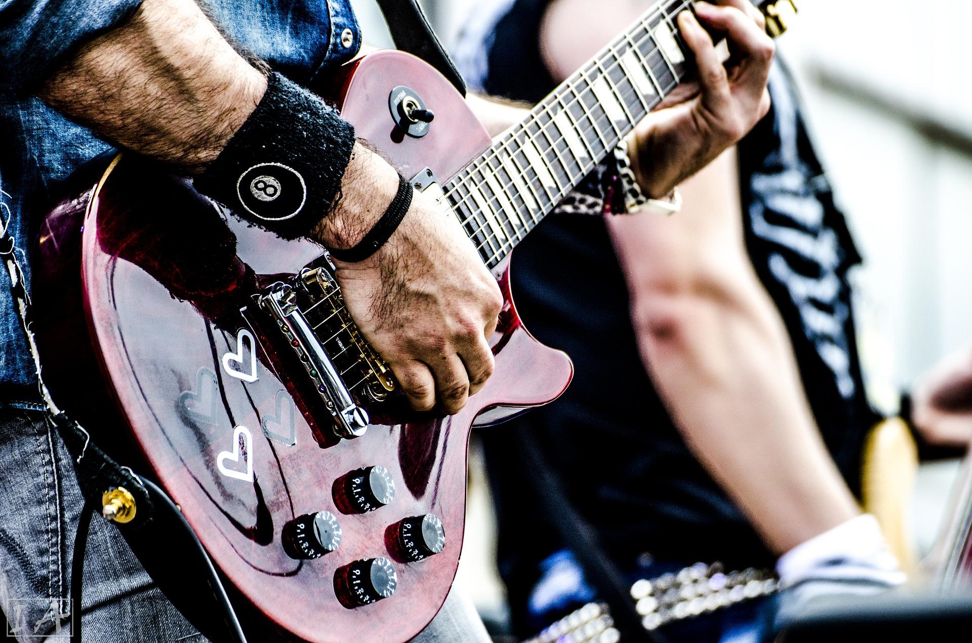fale dźwiękowe, fale akustyczne, muzyka, gitary
