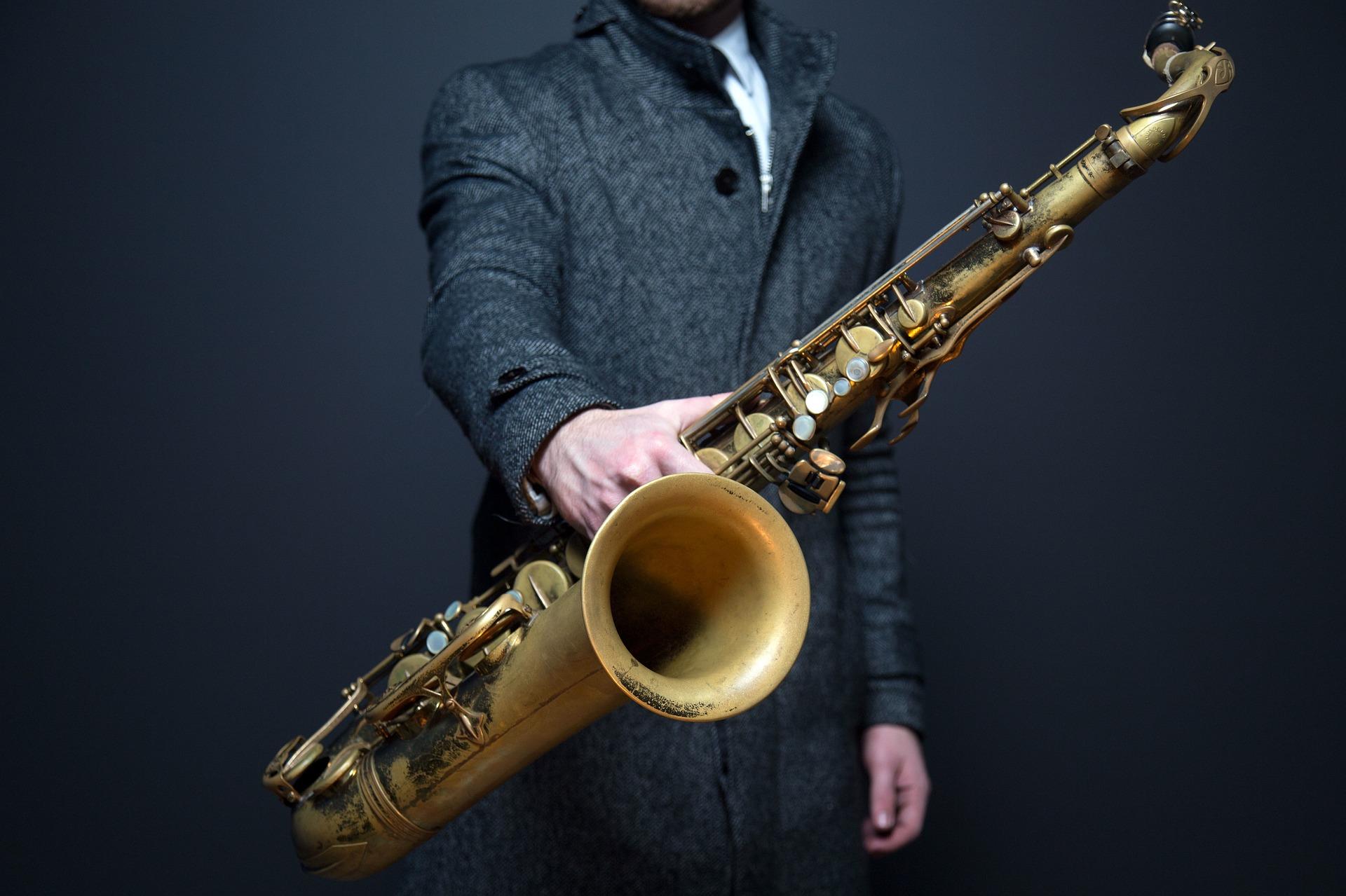 fale dźwiękowe, saksofon, muzyka, fale akustyczne