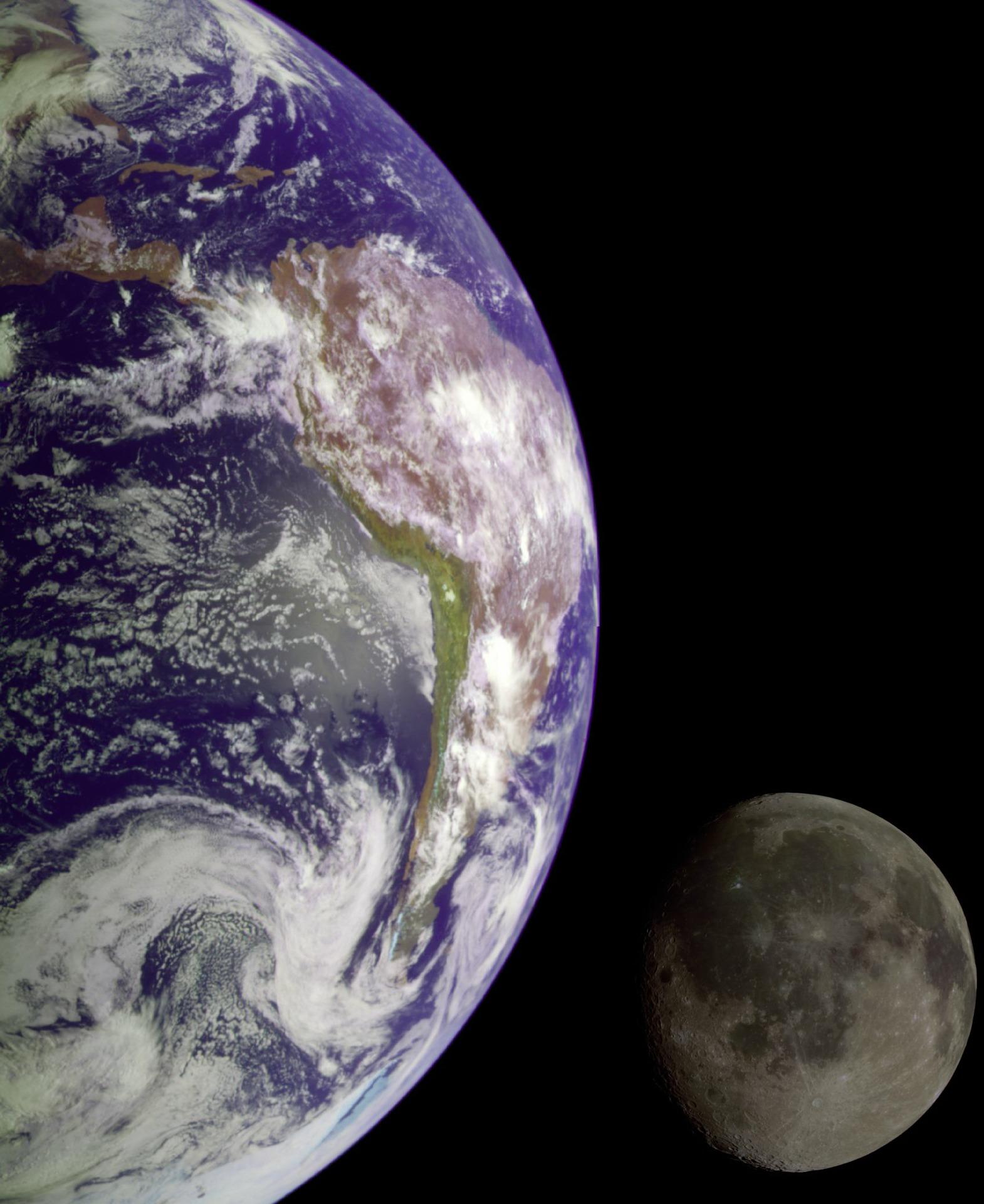 naturalny satelita ziemi, księżyc, układ słoneczny, astronomia